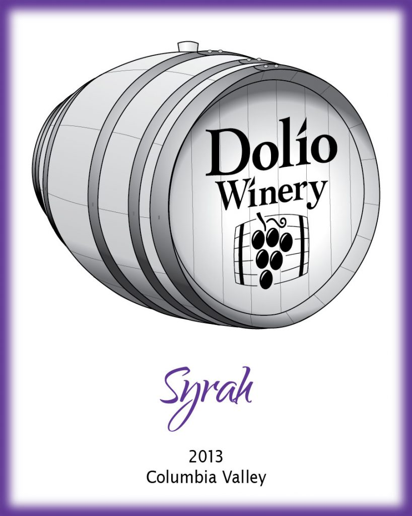 Dolio Winery - 2013 Syrah label