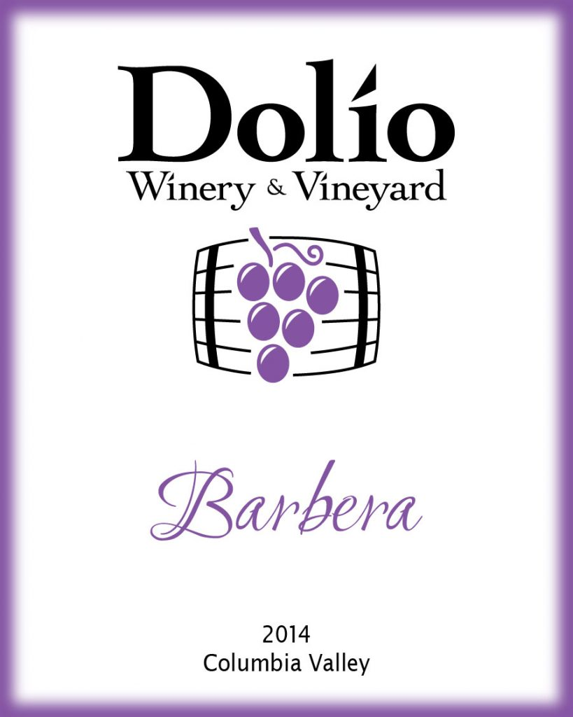 Dolio Winery - 2014 Barbera label