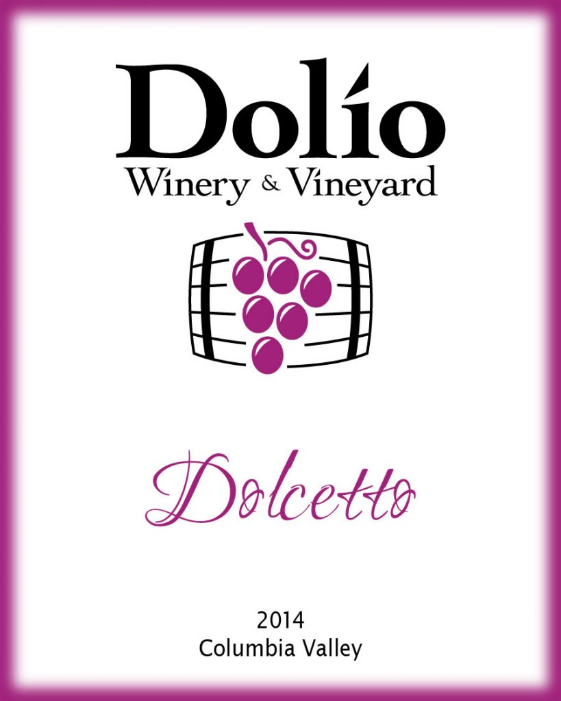Dolio Winery - 2014 Dolcetto label