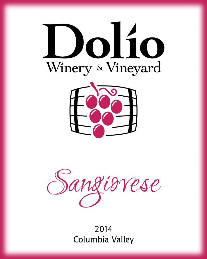 Dolio Winery - 2014 Sangiovese label