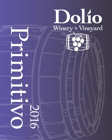 Dolio Winery - 2016 Primitivo label