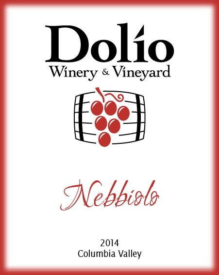 Dolio Winery - 2014 Nebbiolo label
