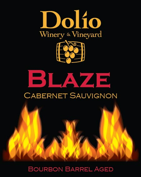 Dolio Winery - Blaze Cabernet Sauvignon label