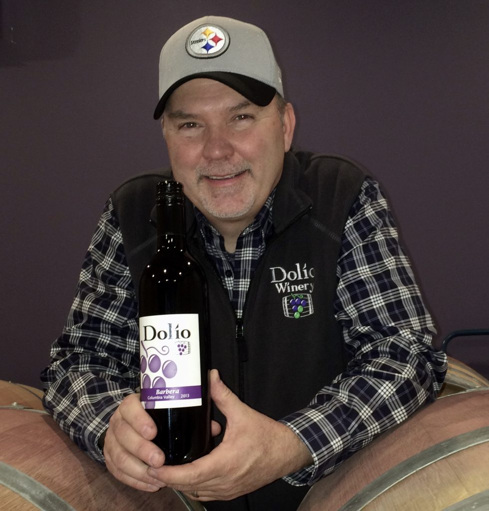 Winemaker, Don Klase, with his first vintage of Barbera
