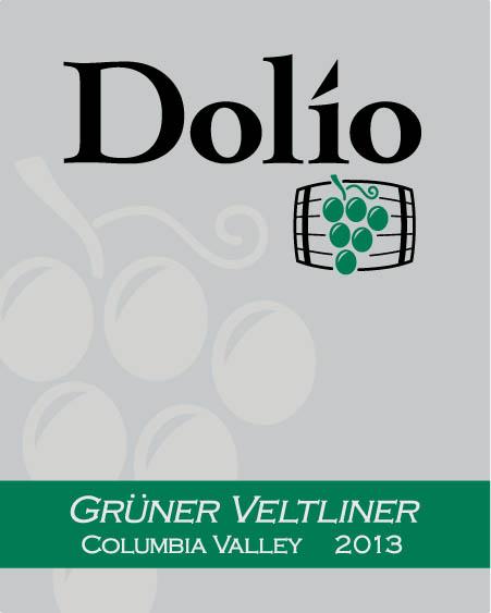 Dolio Winery - 2013 Grüner Veltliner label