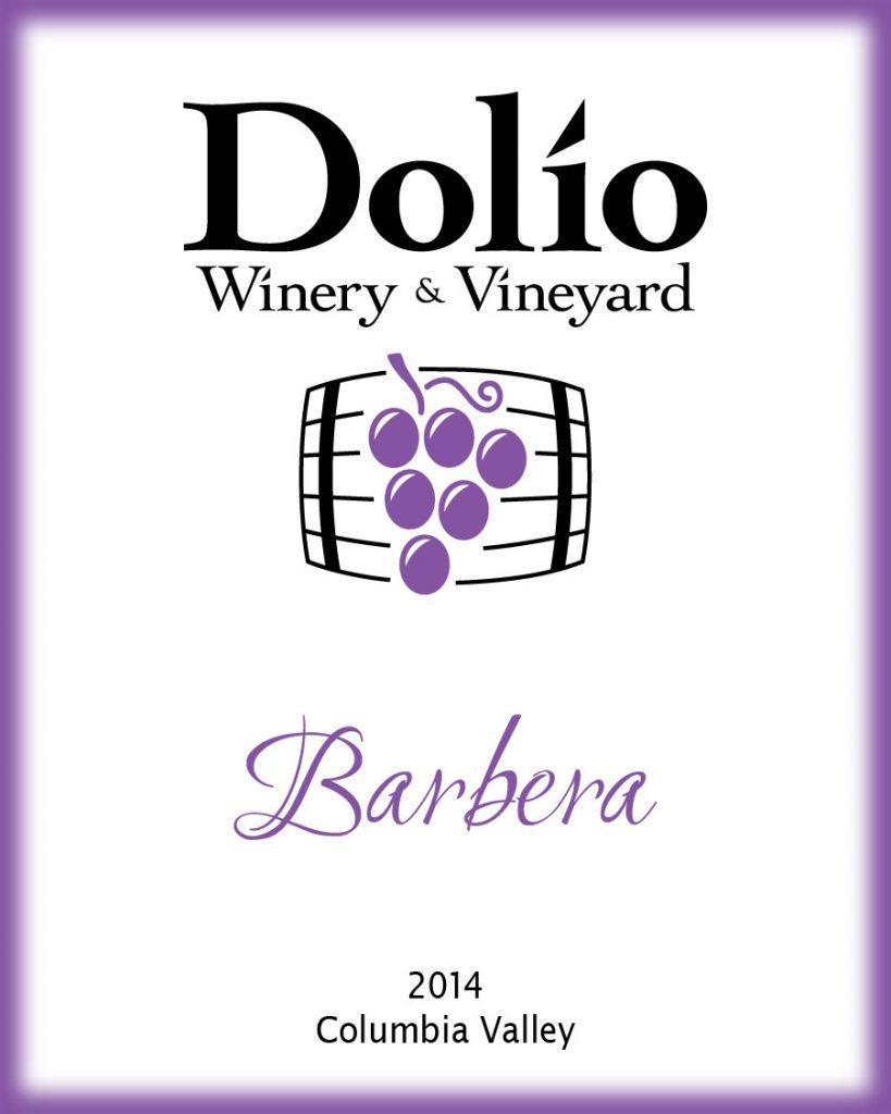 Dolio Winery - 2014 Barbera label