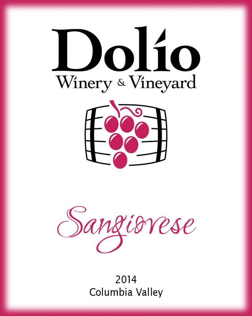 Dolio Winery - 2014 Sangiovese label