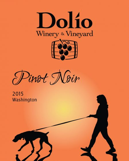 Dolio Winery - 2015 Pinot Noir label