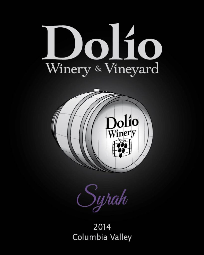 Dolio Winery - 2014 Syrah label