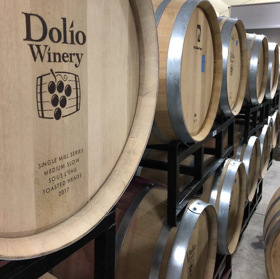 Dolio wine aging in barrels